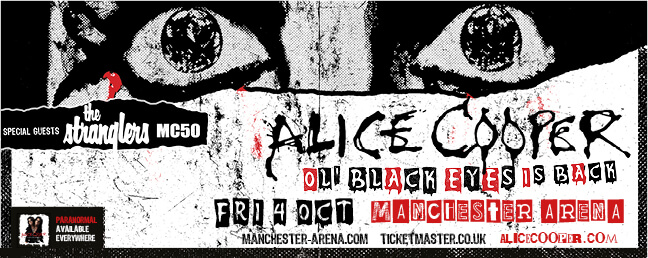 Alice Cooper: VIP Tickets and Hospitality Packages - Manchester Arena