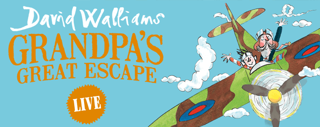 David Walliams Grandpa`s Great Escape: VIP Tickets + Hospitality Packages - Manchester Arena.