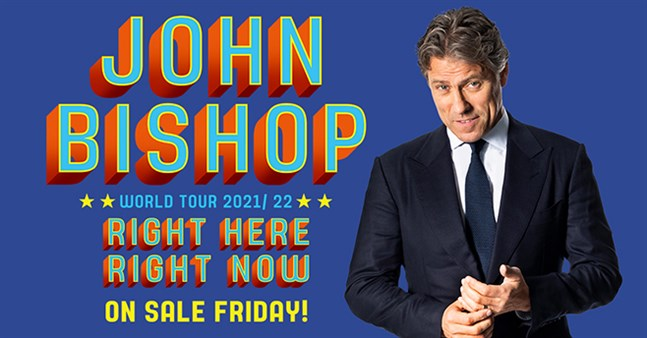 John Bishop: VIP Tickets + Hospitality Packages - Manchester Arena.